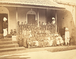 Group of pupils of the Belgaum Girls' School, with master and assistants